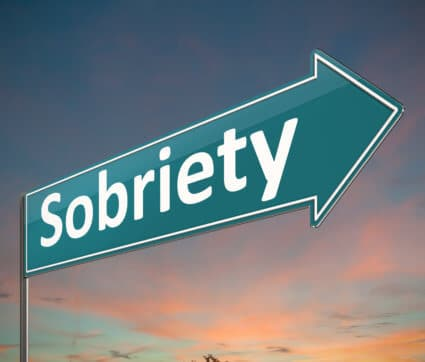 Sobriety Sign In The Sunset