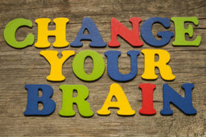 Letters Spelling Out Change Your Brain Representing How To Get Out Of A Rut