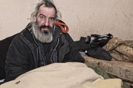 Alcoholism frequently affects the homeless population.